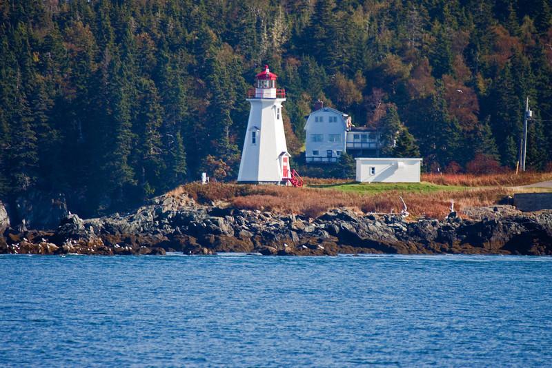 Lighthouse in harbor south of St. John's.