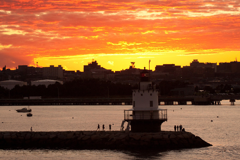Sunset in Portland Maine