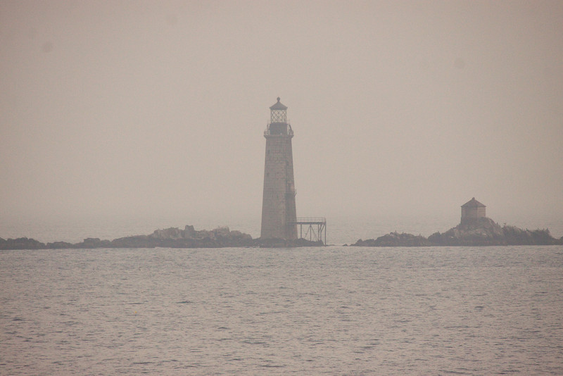 Almost lost in the fog, this lighthouse was auctioned by the federal government.