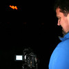 Alan Dusin of Eaton, Colorado videotapes the lighting of the W Friday night as his son, Corey, takes part in the tradition.  Corey is a senior at Western State and is a part of the Western State Mountain Rescue Team.<br /> <br /> Photo by Chris Rourke