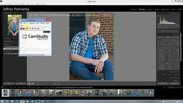 Copying and synchronizing image settings in Lightroom