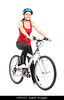 TA4.1 / New Chapter Opening photo, contemporary photo of a person biking, must be wearing a helmet<br /> <br /> Choice 4 of 16<br /> <br /> CPF57D Female biker with helmet posing next to a bike isolated against white background
