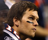 TA10.8 / Tom Brady with a nervous look on his face<br /> <br /> Choice13 of 13<br /> <br /> 05 Feb 2012, Indianapolis, Indiana, USA --- FILE - In this Feb. 5, 2012 file photo, New England Patriots quarterback Tom Brady watches from the bench during the first half of the NFL Super Bowl XLVI football game against the New York Giants, in Indianapolis. Tom Martinez, the longtime personal coach to Patriots quarterback Tom Brady, has died. His wife, Olivia, told the San Mateo Daily Journal that he died Tuesday, Feb. 21, 2012 after suffering a heart attack while receiving dialysis treatment. The San Francisco Chronicle reported he died in Redwood City. He was 67. (AP Photo/Paul Sancya, FIle) --- Image by © Paul Sancya/ /AP/Corbis