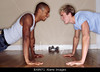 TA2.19 / Two exercise buddies, mixed ethnicities would be good<br /> <br /> Choice 6 of 15<br /> <br /> BX8N71 Two Young Men Doing Press-ups