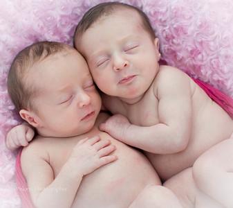Lillian and Violet Newborn Session