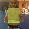 Monday, May 6, 2013 - Sarah Taylor - Straight A's on her report card! Awesome!!