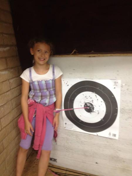Saturday, July 27, 2013 - Bulls eye for Emma Kessler!