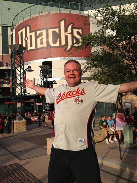 Friday, July 26, 2013 - Pastor Mark Rossington at the Diamondbacks vs Padres game at Chase Field