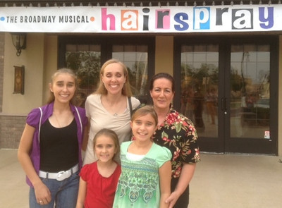 Friday, July 5, 2013 - Girl's Night Out at opening night of the Broadway Musical Hairspray at the Hale Center Theatre! Thank you Tanya, Anna, Rebecca and Sarah Taylor