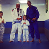 Saturday, June 22, 2013 - Congratulations to our grand daughter who got her third stripe today in BJJ! Yay Kayla!!