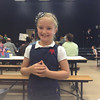 Wednesday, March 6, 2012 - We loved seeing our beautiful gal, Lilly Ring at her school's Leadership Day, where everyone was showing their leadership skills and patriotism!