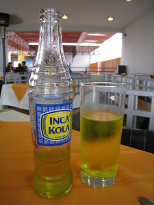 I've heard some people make fun of Inca Kola over the years. I think its great stuff and I also think it goes great with ceviche.