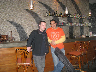 Me and my friend Carlos, on our way out. There's a bar at the entrance.