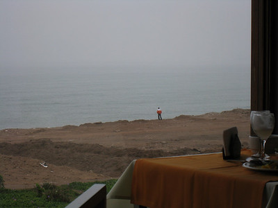 A new spot we heard we should try called Mi Propiedad Privada (My Private Property). This is overlooking the Pacific Ocean during the cloudy an dreary winter months, which last for a depressing *8* months out of the year.