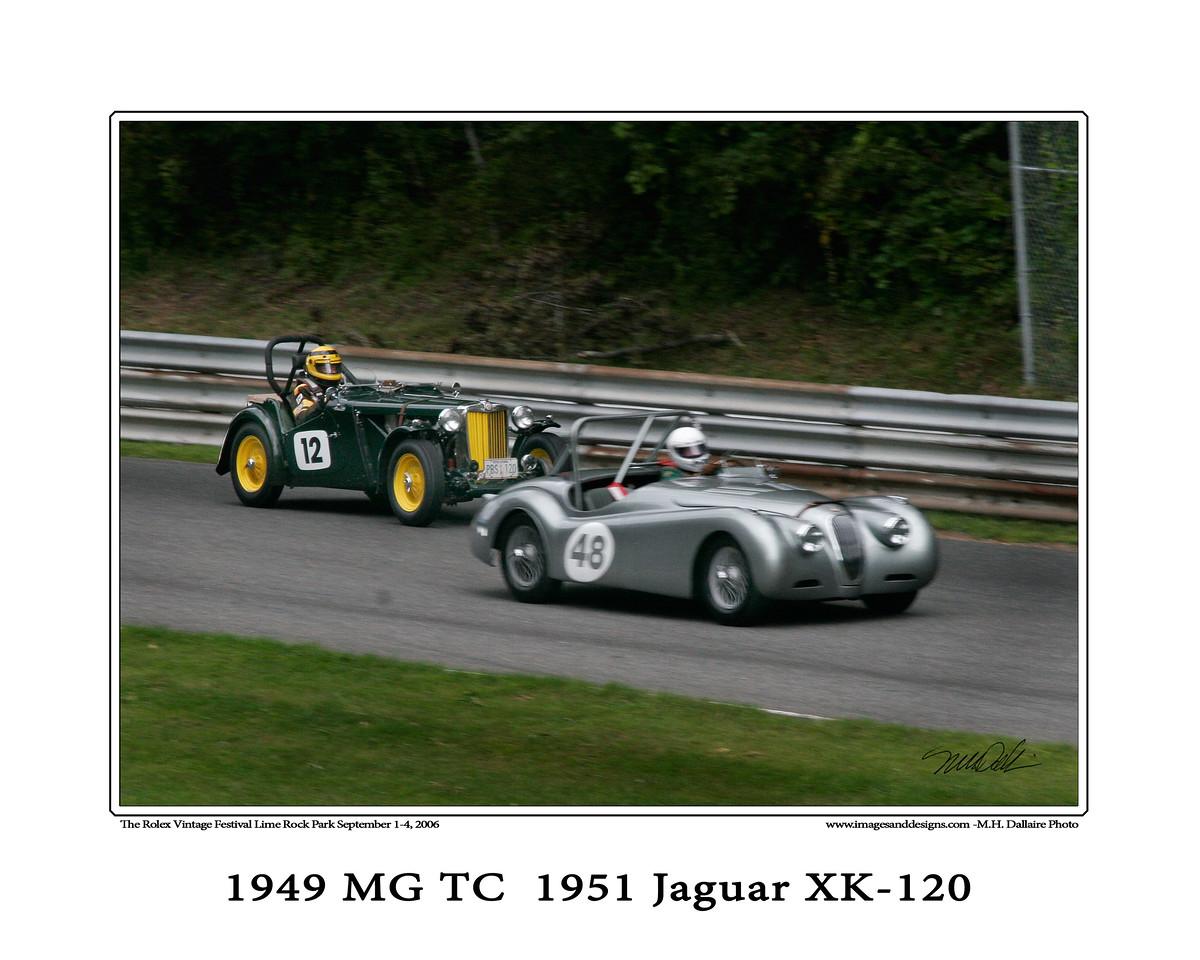 49 MG TC and 51 Jag xk120 copy
