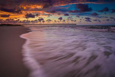 Holden Beach Pier Sunrise