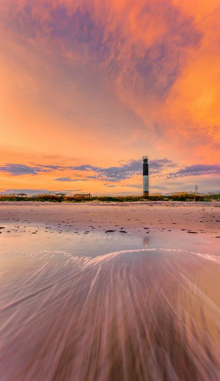 Oak Island Ligthouse Sunset