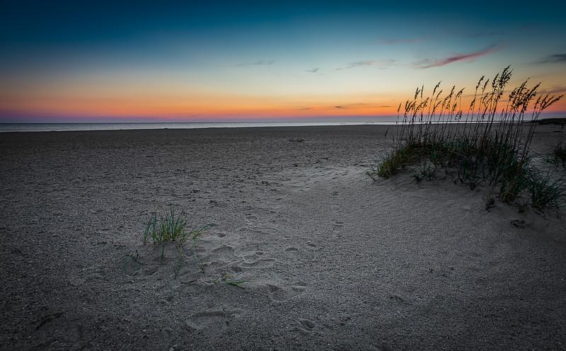 Simple Baldhead Island Sunset