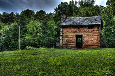 One of the many building at the Booker T Washington National Monument located in Moneta,VA