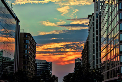 """Big City Sunset"" taken in downtown Washington,DC"