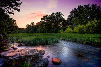 """River Sunset""  from the Roanoke River Greenway"