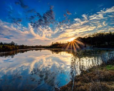 Cherry Blossom Trail Sunrise