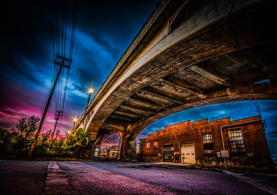 Sunset Under The Bridge - I took this shot on a photo walk with the Exposure Roanoke Group the location was under the Walnut St. Bridge in Roanoke,VA  This photo won Staff Favorite Award - October 2012 ViewBug