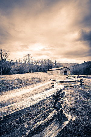 Old Man Dawson's Barn I took this photograph in the Cades Cove section of the Great Smoky Mountains National Park in Tennessee