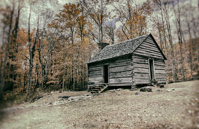 Old Cabin In The Fall