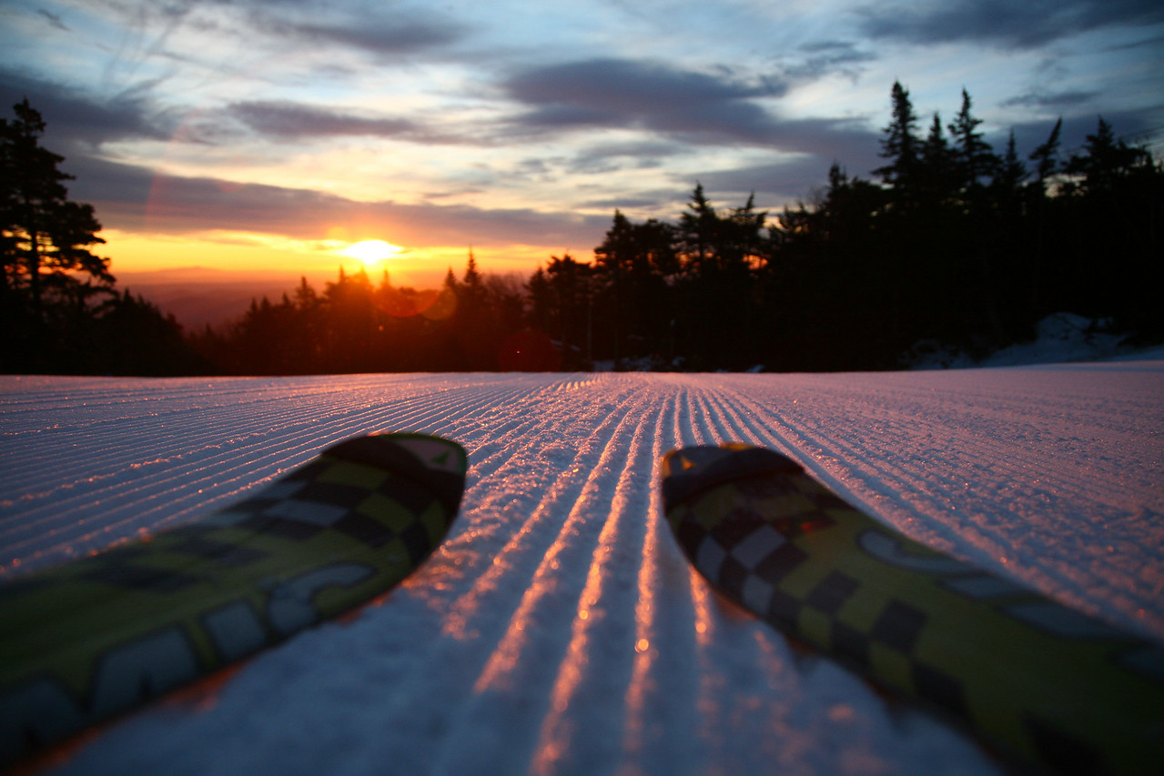 While the north east is not famous for steep and deep powder days featured in the west, moments of zen are still not hard to come by, as evidenced by a dawn hike up Stratton Mountain, Vermont.