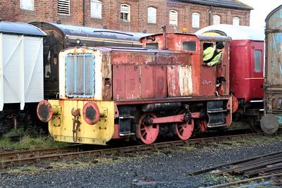 Hunslett 4wDH 5308/3793 at Lincs Wolds Railway 24/11/12