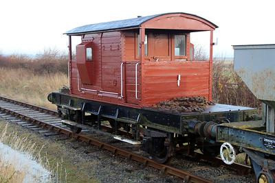 LMS 20t Brake Van 730794 Lincs Wold Railway 24/11/12