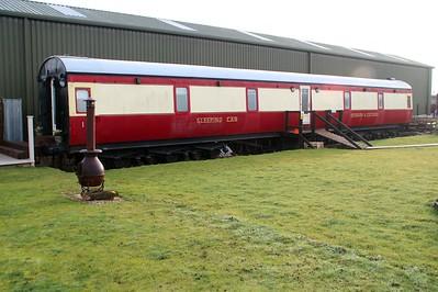 Ex LMS Sleeper coach 380 next to Lincs Wolds Railway 24/11/12