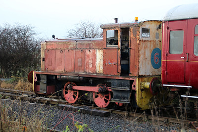 Ruston & Hornsby 0-4-0DM 414303/No6 at Lincs Wolds Railway 24/11/12