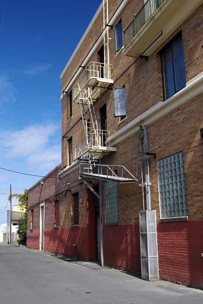 An old fire escape on an old building
