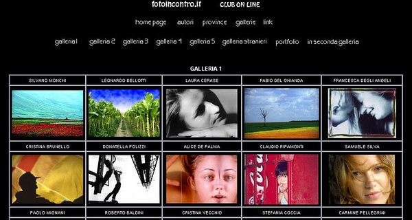 //www.fotoincontro.it Sito strutturato come vetrina della fotografia italiana, offre spazio anche a fotoamatori stranieri. Raccoglie quasi 500 gallerie e riporta anche notizie su concorsi ed altre iniziative fotografiche.