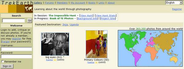 //www.trekearth.com comunità ad iscrizione gratuita, contiene un enorme database di immagini indicizzate secondo la provenienza geografica