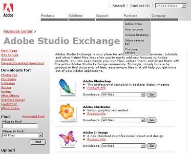 //share.studio.adobe.com La Adobe raccoglie in questo sito i contributi di fotoamatori ed appassionati, e costituisce una vera miniera di stili, azioni, ecc.  Per effettuare il download (ed eventualmente contribuire) è necessaria una registrazione gratuita.