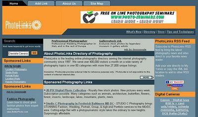 //www.photolinks.com sito che raccoglie oltre 27.000 link fotografici, suddivisi in circa 80 categorie