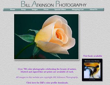 //www.billatkinson.com sito di un fotografo professionista americano, con immagini di natura e paesaggi - di particolare rilievo le fotografie dedicate a formazioni rocciose