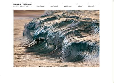 Pierre Carreau: stupende fotografie di onde marine  http://www.pierrecarreau.com/