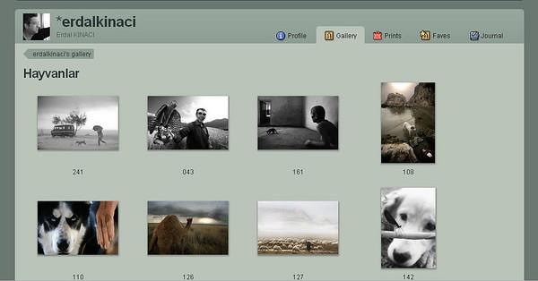 Gallerie del fotografo turco Erdal Kinaci, già ospitate in deviantart ed ora sul sito personale, con bei ritratti ambientati   http://erdalkinaci.daportfolio.com/