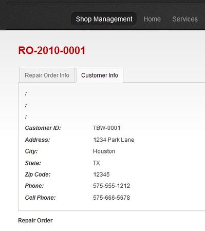 Repair-Order-Customer
