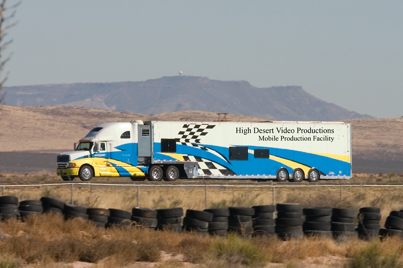 High Desert Video Productions Mobile Studio, Production Facility, Cooler Croozer Hauler and Porta Potty.