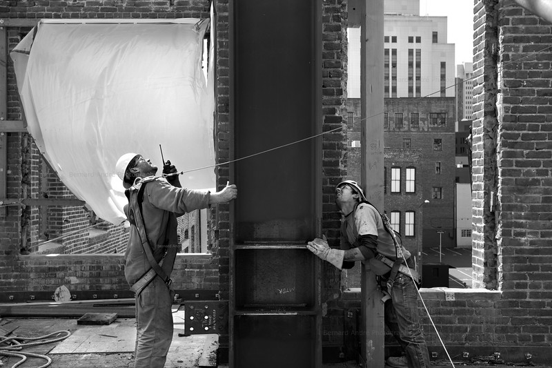 The Battery construction progress photography, San Francisco, CA. BCCI Builders.