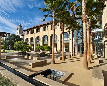 Stanford Institute for Economic Policy Research, Stanford Campus, Exterior Front Yard. Vance Brown Builders.