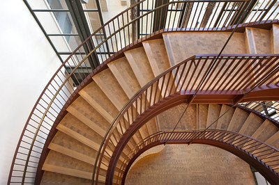 Stanford Institute for Economic Policy Research, Stanford Campus, Stair Case. Vance Brown Builders.