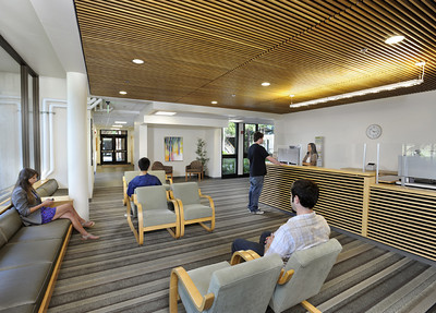 Cowell Student Health Center, Waiting Room, UCSC. Hawley Peterson Snyder.