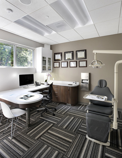 Kai Orthodontics, Campbell. Exam Room. Sullivan Design Studio.