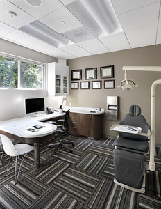Kai Orthodontics, Campbell. Exam Room. Sullivan Design Studio.
